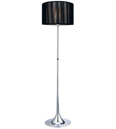 eglo 89027a fabienne 62 inch 100 watt chrome floor lamp portable light. Black Bedroom Furniture Sets. Home Design Ideas