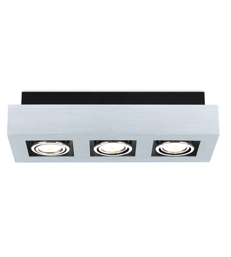 Eglo 89077A Loke Brushed Aluminum 20 watt 3 Light Spot Light photo