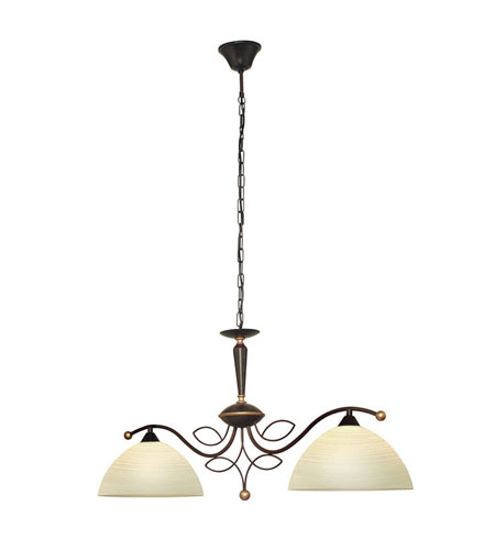 Eglo Beluga 2 Light Island Light in Antique Brown 89134A photo
