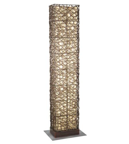 Eglo Lighting Shuko 2 Light Outdoor Floor Lamp in Antique Brown 89562A photo