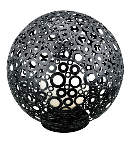 Eglo Ferroterra 1 Light Outdoor Floor Lamp in Black 89565A photo