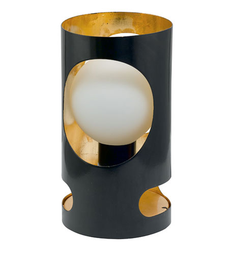Eglo Tubola 1 Light Table Lamp in Black/Gold 89639A photo