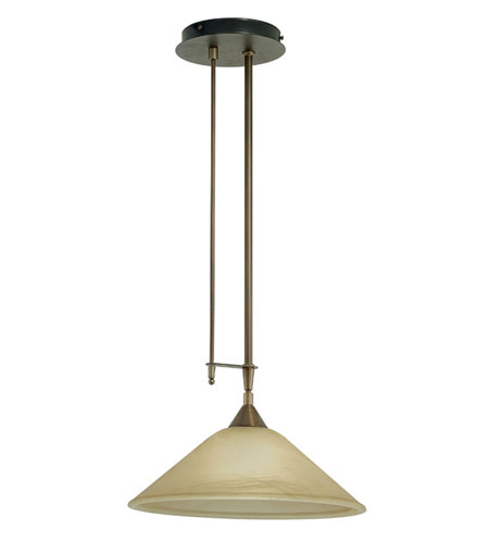 Eglo Madai 1 Light Chandelier in Burnished 89648A photo