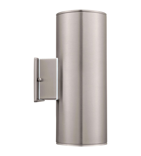 Eglo 90121A Ascoli 2 Light 5 inch Stainless Steel Wall Light photo