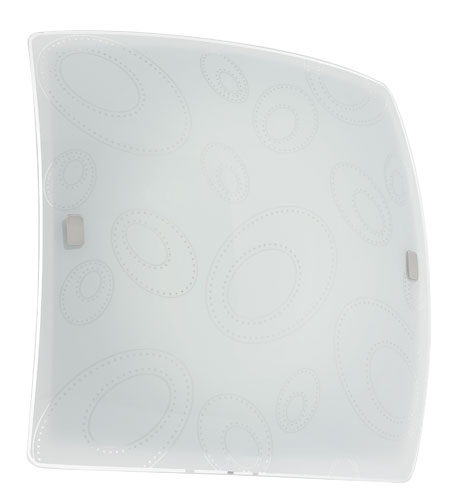 Eglo Scalea 2 Light Wall Light in White Glass 90153A photo