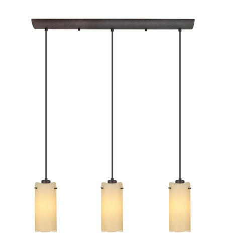Eglo Severo 3 Light Trestle Hanging Light In Antique Brown