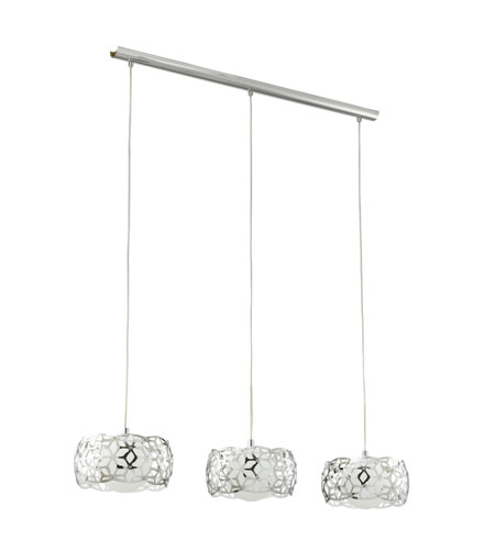 Eglo Lighting Oxana 3 Light Trestle Hanging Light in Chrome 90439A photo