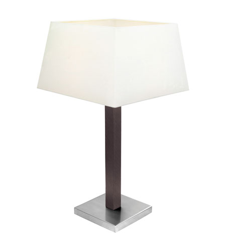 Eglo Raina 1 Light Table Lamp in Matte Nickel & Brown 90456A photo