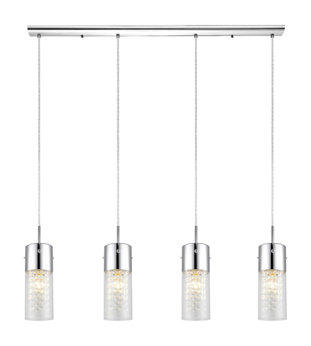 Eglo 90696a Diamond 4 Light 40 Inch Chrome Trestle Hanging Ceiling