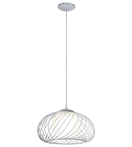 Eglo 90754A Thebe 1 Light 15 Inch Chrome Pendant Ceiling