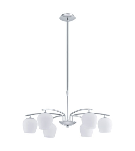 Eglo Carda 6 Light Chandelier in Chrome 91573A photo