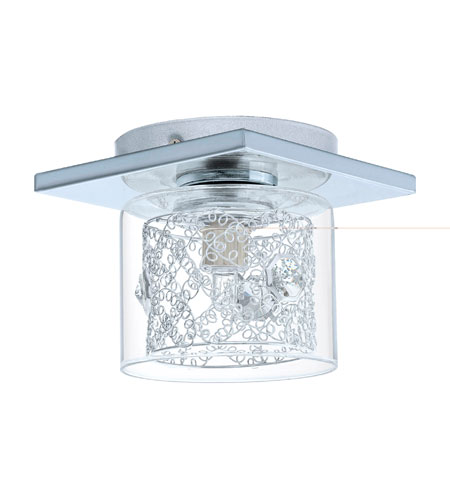 Eglo 91732A Panella 1 Light 6 inch Chrome Semi-Flush Mount Ceiling Light photo