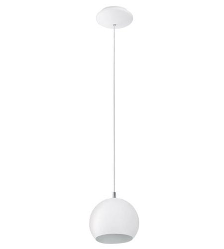 Eglo Lighting Petto 1-Light Pendant in Steel / White 92357A photo