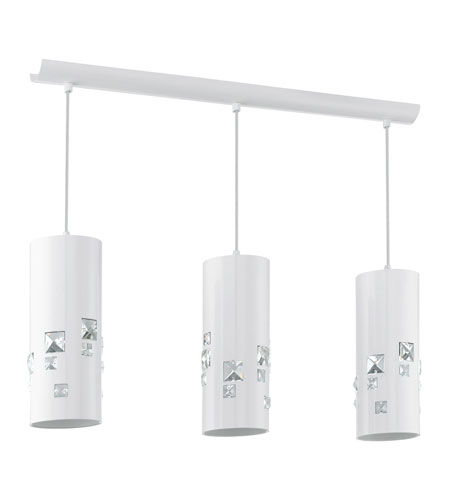Eglo 92658A Pigaro 3 Light 28 inch Shiny White Island Trestle Light Ceiling Light photo