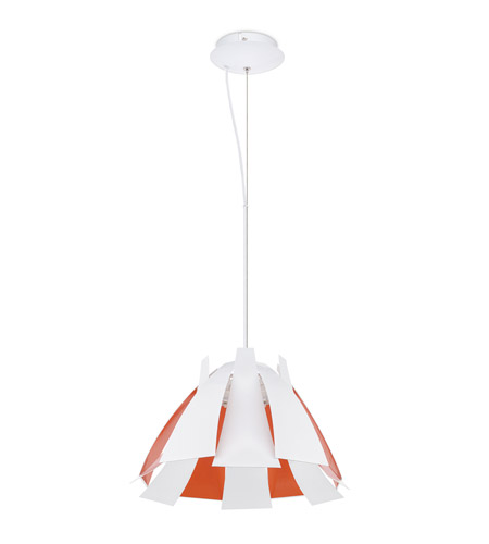 Eglo 92796A Tressi 1 Light 17 inch Glossy White Pendant Ceiling Light photo