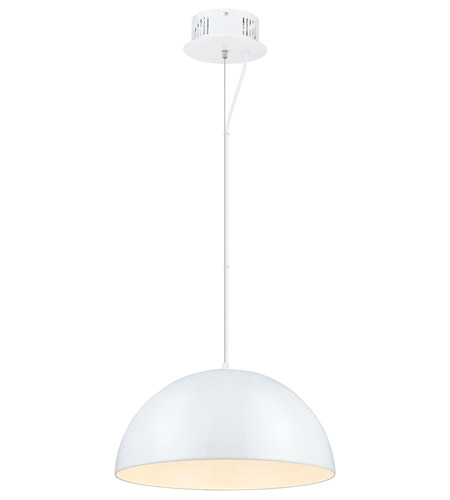 Eglo 92954a gaetano led 21 inch glossy white pendant ceiling light aloadofball Choice Image