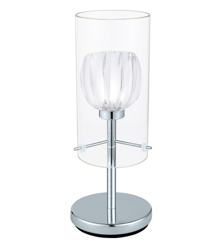Eglo 93105a ricabo 12 inch 40 watt chrome table lamp for 12 inch table lamps