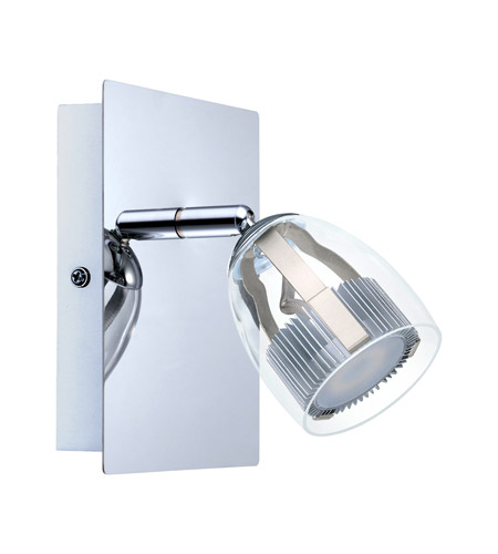 Eglo 93741a pecero 1 light 120v chrome wall track light ceiling light aloadofball Choice Image