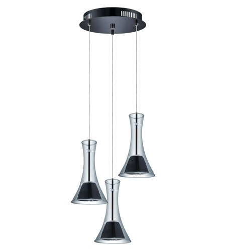 Eglo 93795A Musero LED 11 inch Matte Nickel Multi Light Pendant Ceiling Light photo