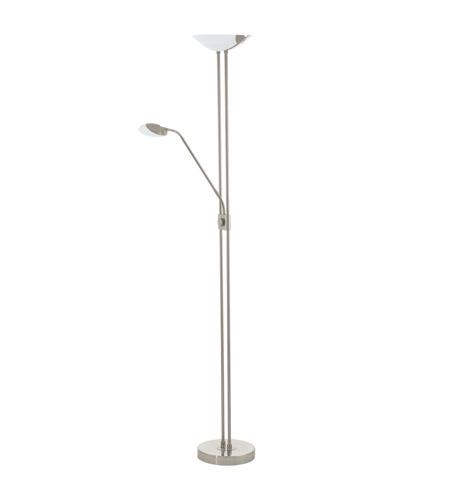 Eglo 93874a baya 71 inch 20 watt matte nickel floor lamp portable light aloadofball Gallery