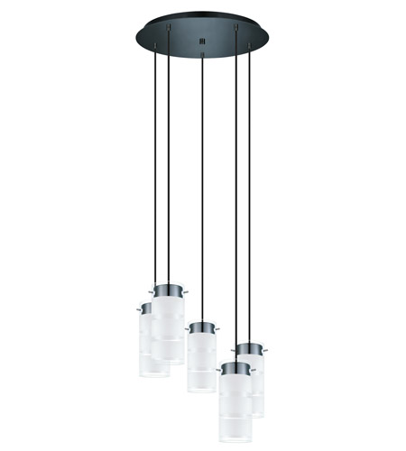 Eglo 93907A Olvero LED 20 inch Black Chrome Multi Light Pendant Ceiling Light photo