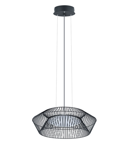 Eglo 93985a piastre led 23 inch black pendant ceiling light - Grosse suspension luminaire ...