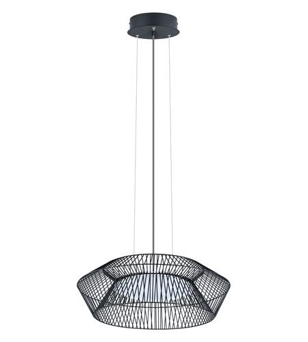 Eglo 93985a Piastre Led 23 Inch Black Pendant Ceiling Light