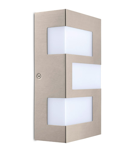 Eglo 94086a Ralora Led 10 Inch Stainless Steel Outdoor Wall Light Photo