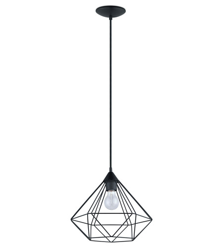 Eglo 94188A Tarbes 1 Light 13 inch Matte Black Pendant Ceiling Light  photo