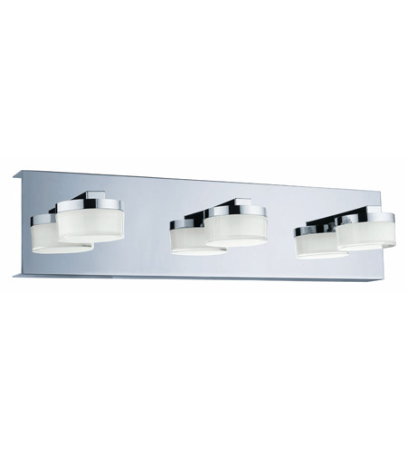 eglo 94653a romendo led 18 inch chrome vanity light wall light clear and satin shade