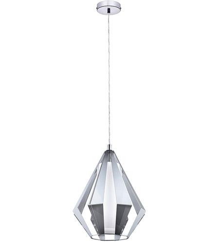 Eglo 95532a taroca 1 light 12 inch chrome pendant ceiling light aloadofball Gallery