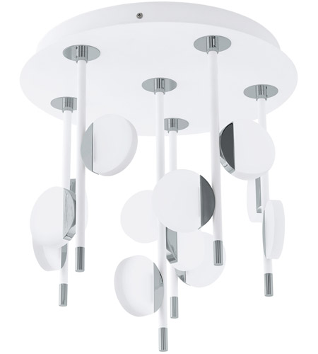 Eglo 96968A Olindra LED 16 inch White and Chrome Semi Flush Mount Ceiling Light photo thumbnail