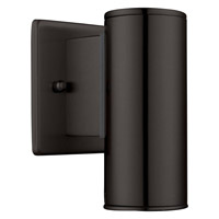 Riga 1 Light 6 inch Matte Black Outdoor Wall Light