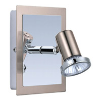Eglo 200092A Rottelo 1 Light 5 inch Matte Nickel & Chrome Wall Spot Wall Light