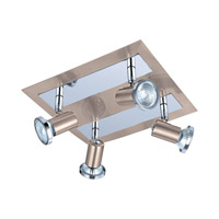 Eglo Rottelo 4 Light Track Spot Light in Matte Nickel & Chrome 200093A