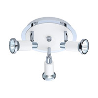 Eglo Eridan 3 Light Track Spot Light in Chrome & Shiny White 200098A