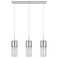 Diamond 3 Light 28 inch Chrome Linear Pendant Ceiling Light