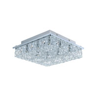 Eglo Lighting Stelaria 2 8-Light Semi-Flush Mount in Chrome 200256A