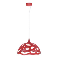 Anzino 1 Light 15 inch Glossy Red Pendant Ceiling Light