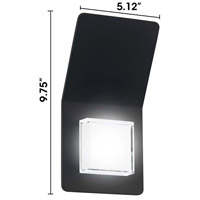 Eglo 200877A Pias LED 10 inch Black Outdoor Wall Light alternative photo thumbnail