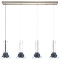 Eglo 200881A Musero LED 5 inch Matte Nickel Multi Light Pendant Ceiling Light
