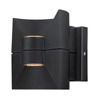 Redondo LED 7 inch Black Outdoor Wall Light