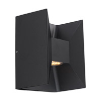 Morino LED 7 inch Matte Black Outdoor Wall Light