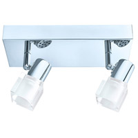 Eglo 200993A Nocera 2 Light 120V Chrome Track Light Ceiling Light