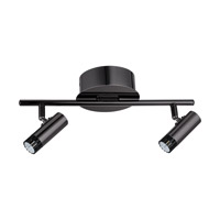 Eglo Lianello LED 2 Light Ceiling Track Light in Black Chrome 201225A