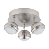 Lombes I 3 Light 120V Matte Nickel Ceiling Track Light Ceiling Light
