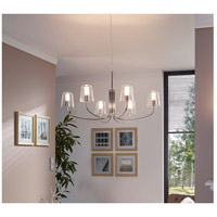 Eglo 201514A Noventa LED 29 inch Chrome Chandelier Ceiling Light alternative photo thumbnail