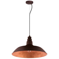 Eglo 201605A Somerton 1 Light 22 inch Chocolate Brown with Gold Interior Pendant Ceiling Light photo thumbnail