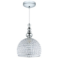 Eglo 201608A Bonares 1 Light 12 inch Chrome Pendant Ceiling Light, Clear Crystals