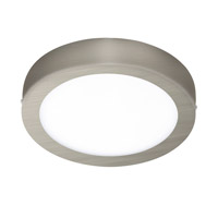 Fueva I LED 9 inch Matte Nickel Flush Mount Ceiling Light